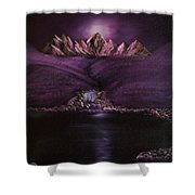 Mystic Mountains Shower Curtain