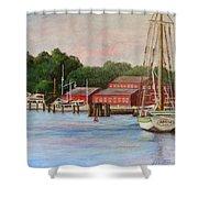 Mystic River Argia Shower Curtain