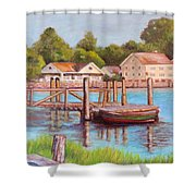 Mystic River View Shower Curtain