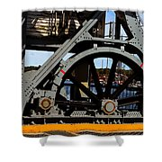 Mystic Seaport Draw Bridge Shower Curtain