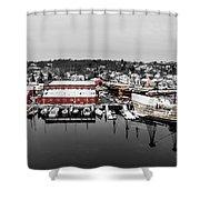Mystic Seaport In Winter Shower Curtain
