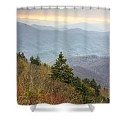 Blue Ridge Mountain 3 Shower Curtain