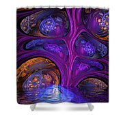 Mystical Caves Of Halyon Shower Curtain