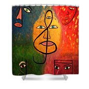 Mystical Notes Shower Curtain