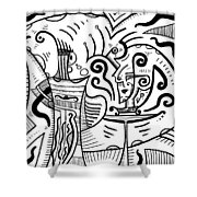 Mystical Powers - Surrealism Shower Curtain