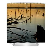 Mystical Sunrise On The Lake Shower Curtain