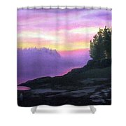 Mystical Sunset Shower Curtain by Sharon E Allen