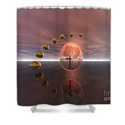Mystical Surrealism Shower Curtain