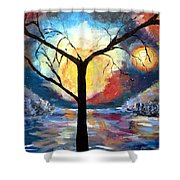 Mystical Twilight Forest Shower Curtain