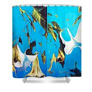 Mysticoblue Shower Curtain