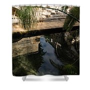 Mythical Arethusa - Wild Papyrus And Frieze Reflections Shower Curtain