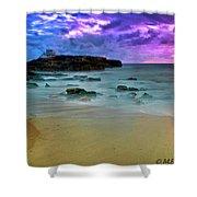 Mythical Ocean Sunset  Shower Curtain