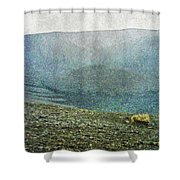 Myvatn Mooncrater Shower Curtain