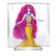 Mzia Meisouri. Beauty Girl From Space Shower Curtain
