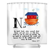 N Is For Noah Shower Curtain