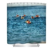 Na Mo'opuna Paddle Out Shower Curtain