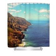 Na Pali Coast Shower Curtain