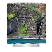 Na Pali Waterfall Shower Curtain