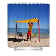 Nadador Salvador Shower Curtain