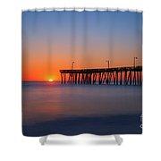 Nags Head Fishing Pier Sunrise Shower Curtain