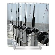 Nags Head Nc Fishing Poles Shower Curtain
