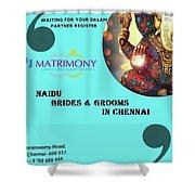 Naidu Brides And Grooms In Chennai Shower Curtain