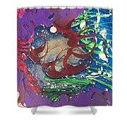 Nail Polish Abstract 15-s11 Shower Curtain