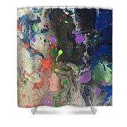 Nail Polish Abstract 15-w11 Shower Curtain