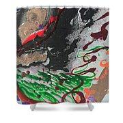 Nail Polish Abstract 15-z11 Shower Curtain