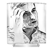 Naji Al-ali Shower Curtain