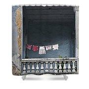 Naked Balcony Shower Curtain