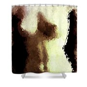 Naked Female Torso  Shower Curtain