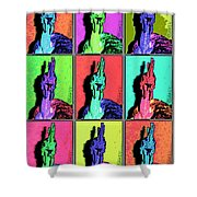 Naked Neck Rooster Warhol Style Shower Curtain