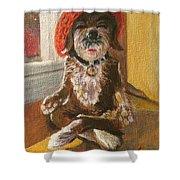Namaste Dog Shower Curtain