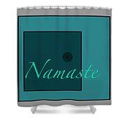 Namaste In Blue Shower Curtain
