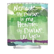 Namaste- Watercolor Card Shower Curtain