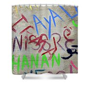 Names Shower Curtain