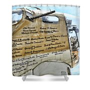 Names On B-17 Shower Curtain