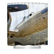 Names Pilots B-17 Shower Curtain