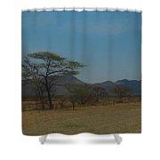 Namibia Landscape Shower Curtain