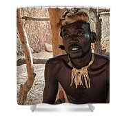 Namibia Tribe 2 - Chief Shower Curtain
