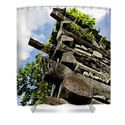 Nan Madol Wall Shower Curtain