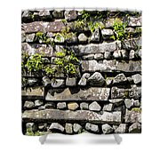 Nan Madol Wall2 Shower Curtain