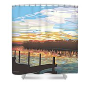 Nancy's River Shower Curtain