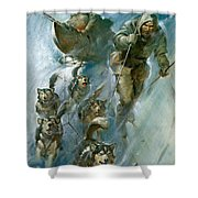 Nansen Conqueror Of The Arctic Ice Shower Curtain by James Edwin McConnell