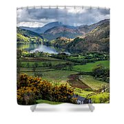 Nant Gwynant Valley Shower Curtain