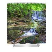 Nant Mill Waterfall Shower Curtain