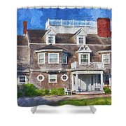 Nantucket Architecture Series 28 Shower Curtain