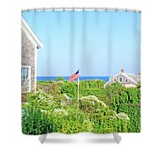 Nantucket Cottages Overlooking The Sea Shower Curtain