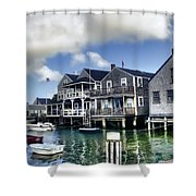 Nantucket Harbor In Summer Shower Curtain
